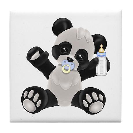 Baby Panda Boy Tile Coaster