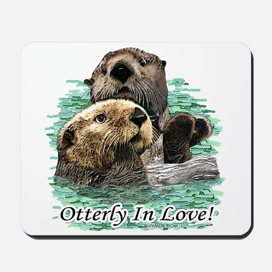 Otterly In Love Mousepad