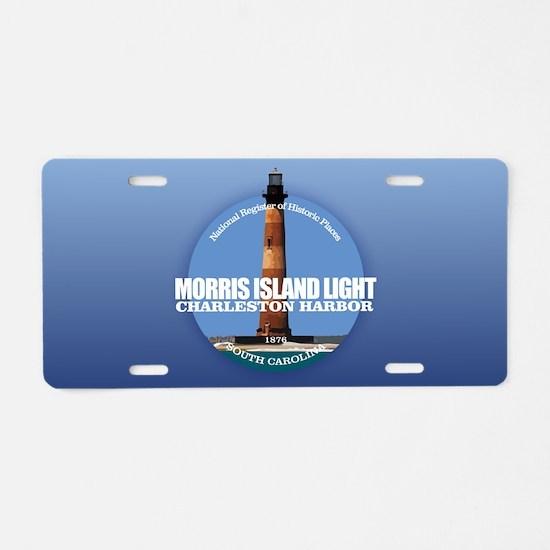 Morris Island Light Aluminum License Plate