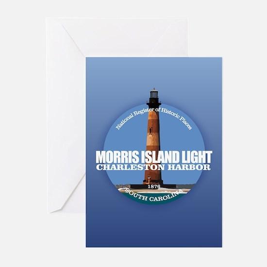 Morris Island Light Greeting Cards