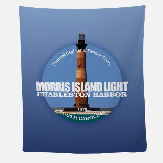 Morris Island Light Wall Tapestry