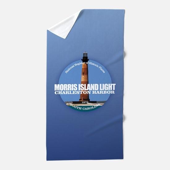Morris Island Light Beach Towel
