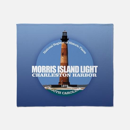 Morris Island Light Throw Blanket