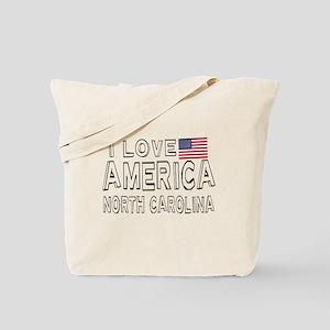 I Love America North Carolina Tote Bag