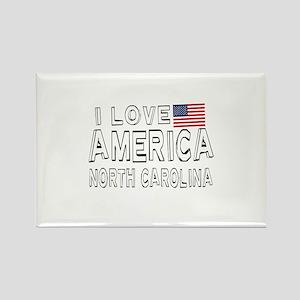 I Love America North Carolina Rectangle Magnet