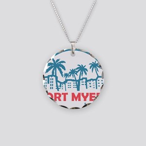 Summer fort myers- florida Necklace Circle Charm