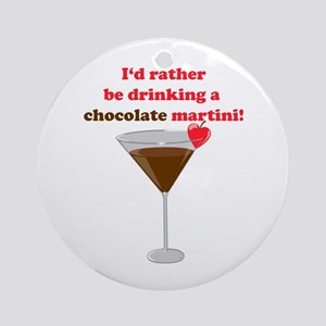Chocolate Martini Ornament (Round)