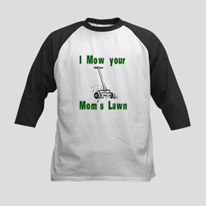 I Mow Your Mom's Lawn Kids Baseball Jersey