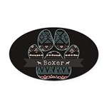 Boxer Oval Car Magnet