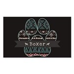 Boxer Sticker (Rectangle 50 pk)