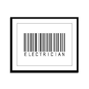 Electrician Bar Code Framed Panel Print
