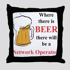 Network Operator Throw Pillow
