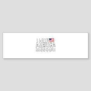 I Love America Missouri Sticker (Bumper)