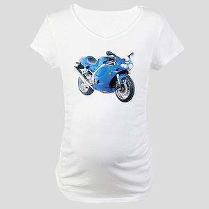 Triumph Daytona 955 Blue Maternity T-Shirt