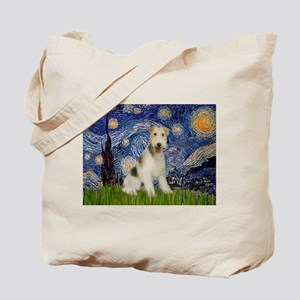 Starry / Fox Terrier (W) Tote Bag