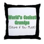 World's Coolest Grandpa Throw Pillow