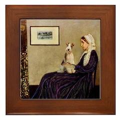 Mom's Wire Fox Terrier Framed Tile