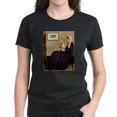 Mom's Wire Fox Terrier Women's Dark T-Shirt