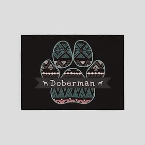 Doberman 5'x7'Area Rug