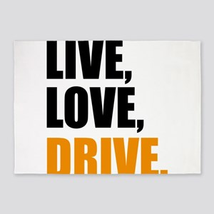 live, love drive 5'x7'Area Rug