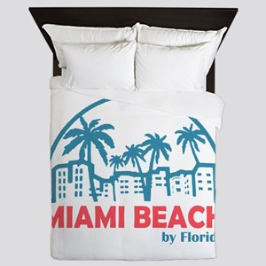 Summer miami beach- florida Queen Duvet