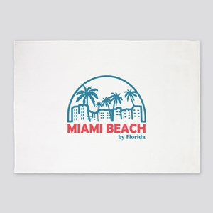 Summer miami beach- florida 5'x7'Area Rug