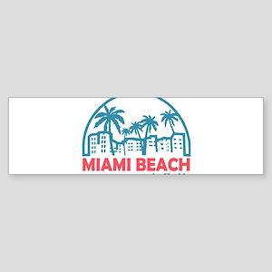 Summer miami beach- florida Bumper Sticker