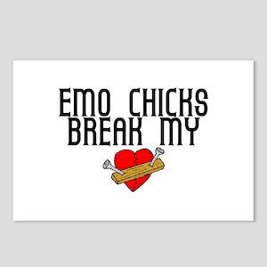 Emo Chicks Break My Heart Postcards (Package of 8)
