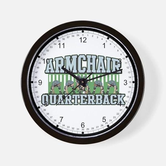 Armchair Quarterback Wall Clock
