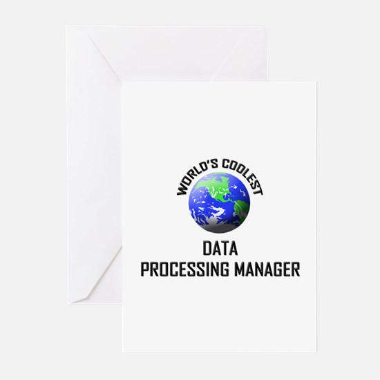 World's Coolest DATA PROCESSING MANAGER Greeting C
