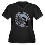 Kick Academy Women's Plus Size V-Neck Dark T-Shirt