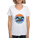 USS BATFISH Women's V-Neck T-Shirt