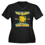 Surf Champ Women's Plus Size V-Neck Dark T-Shirt