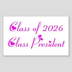 Class president 2026 Rectangle Sticker