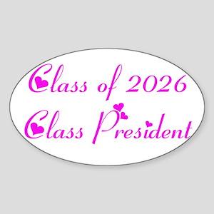 Class president 2026 Oval Sticker