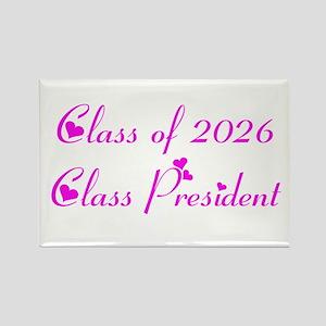 Class president 2026 Rectangle Magnet
