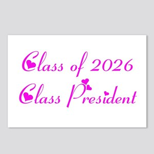 Class president 2026 Postcards (Package of 8)