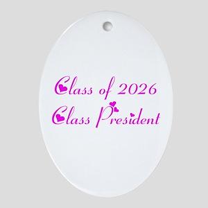 Class president 2026 Oval Ornament