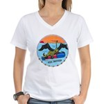 USS BATFISH Women's V-Neck T-Shirt