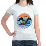 USS BATFISH Jr. Ringer T-Shirt