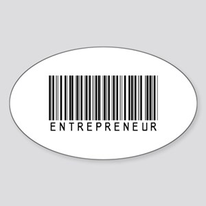 Entrepreneur Bar Code Oval Sticker