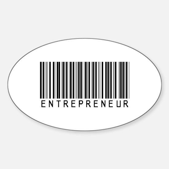 Entrepreneur Bar Code Oval Decal