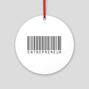 Entrepreneur Bar Code Ornament (Round)