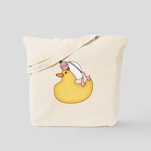 Ducky Girl Tote Bag