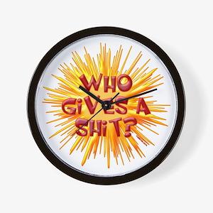 Who gives a shit? Wall Clock