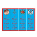 Masonic Bookmarks Postcard Cutups (Package of 8)