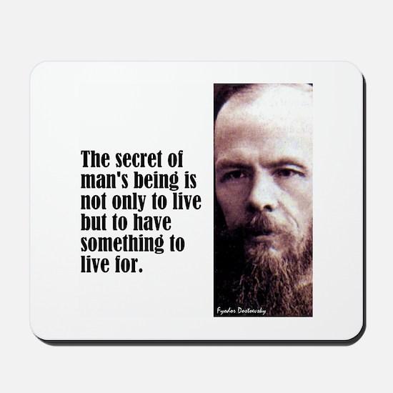 """Dostoevsky """"Secret"""" Mousepad"""