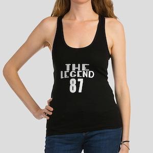 The Legend 87 Birthday Designs Racerback Tank Top