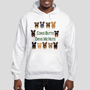 Both Corgi Butts Hooded Sweatshirt