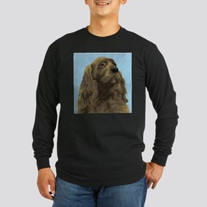 Sussex Spaniel (Front only) Long Sleeve Dark T-Shi